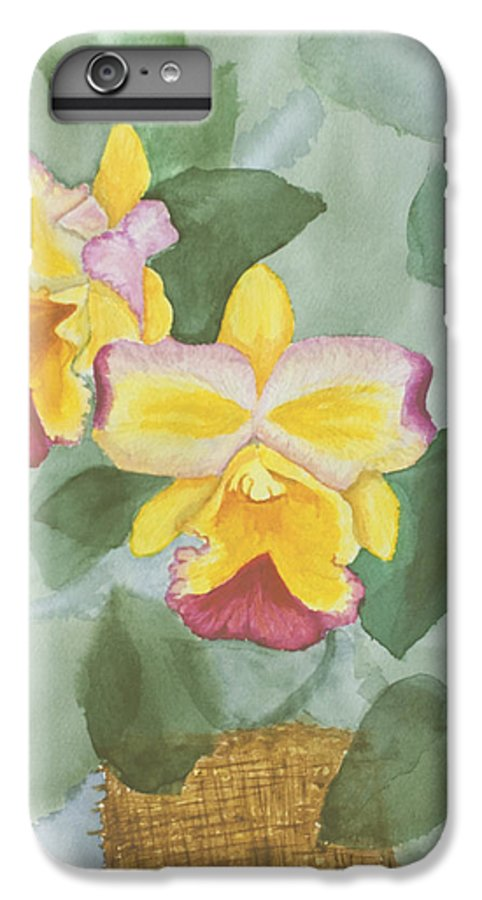 Orchids IPhone 6s Plus Case featuring the painting Gypsy Orchids by Peggy King