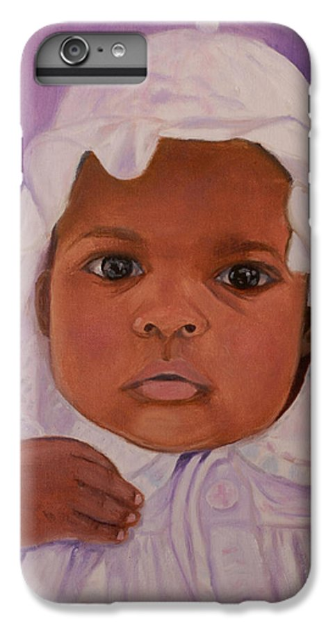 Haiti IPhone 6s Plus Case featuring the painting Haitian Baby Orphan by Quwatha Valentine