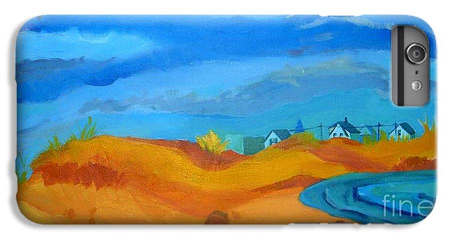 Ocean IPhone 6s Plus Case featuring the painting Hampton Dunes by Debra Bretton Robinson