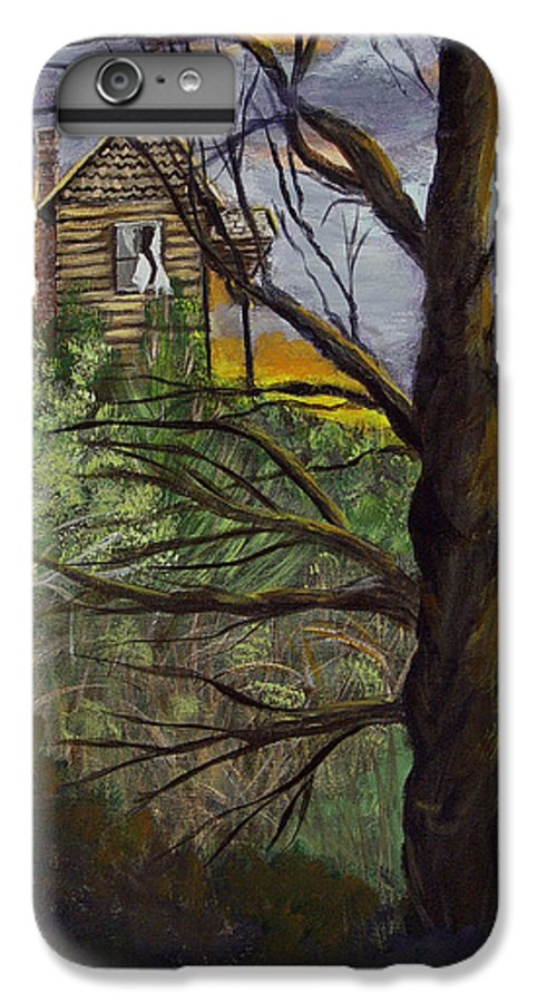 House IPhone 6s Plus Case featuring the painting Haunted House by Quwatha Valentine