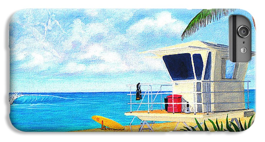 Hawaii IPhone 6s Plus Case featuring the painting Hawaii North Shore Banzai Pipeline by Jerome Stumphauzer