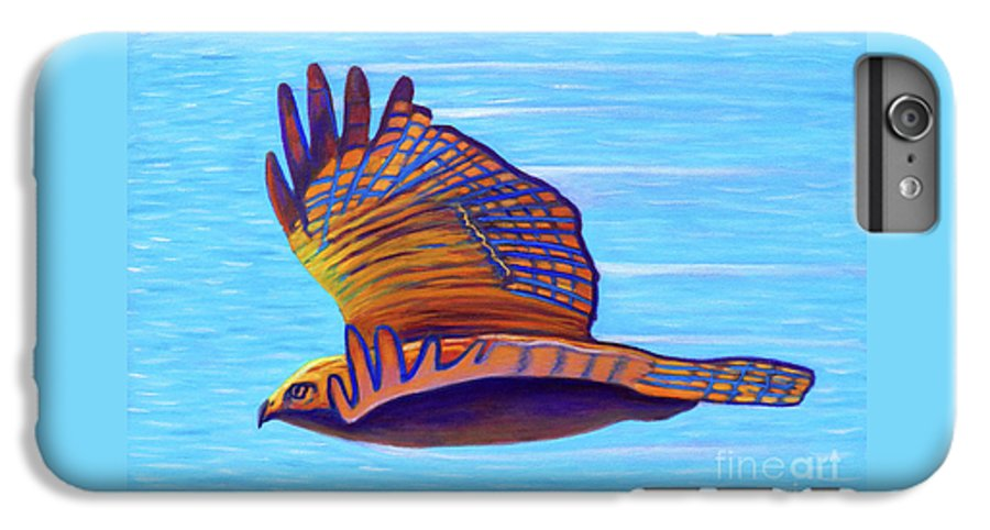 Hawk IPhone 6s Plus Case featuring the painting Hawk Speed by Brian Commerford