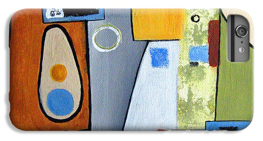 Abstract IPhone 6s Plus Case featuring the painting Headspin II by Ruth Palmer