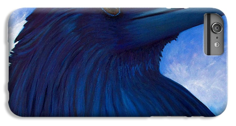 Raven IPhone 6s Plus Case featuring the painting Heaven Bound by Brian Commerford