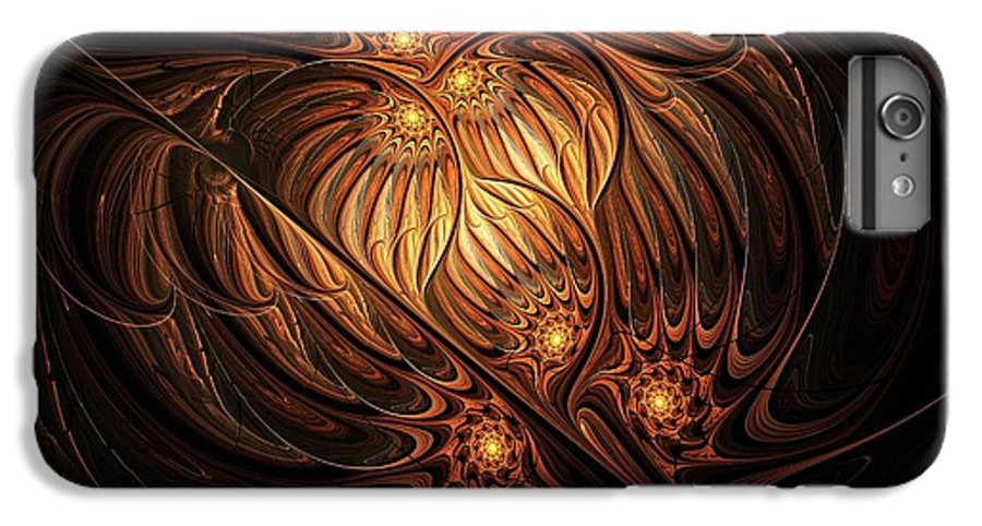 Digital Art IPhone 6s Plus Case featuring the digital art Heavenly Onion by Amanda Moore