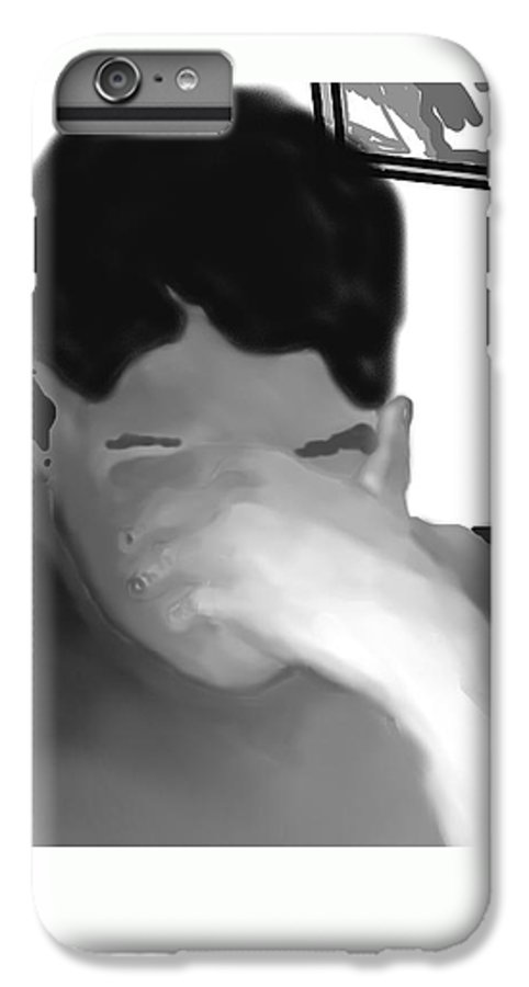 Illustration IPhone 6s Plus Case featuring the drawing Her Hidden Burden by Pharris Art