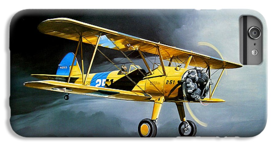 Military IPhone 6s Plus Case featuring the painting Here Comes The Sun by Marc Stewart