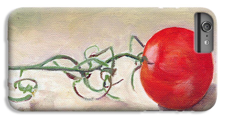 Food IPhone 6s Plus Case featuring the painting Hot-house Tomato by Sarah Lynch