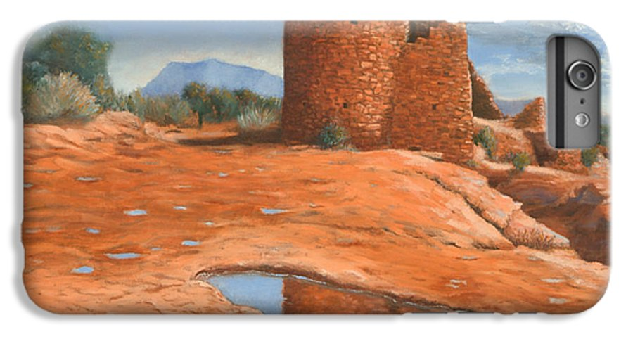Anasazi IPhone 6s Plus Case featuring the painting Hovenweep Reflection by Jerry McElroy