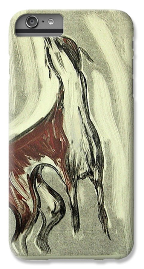 Monotype IPhone 6s Plus Case featuring the mixed media Howling For Joy by Cori Solomon