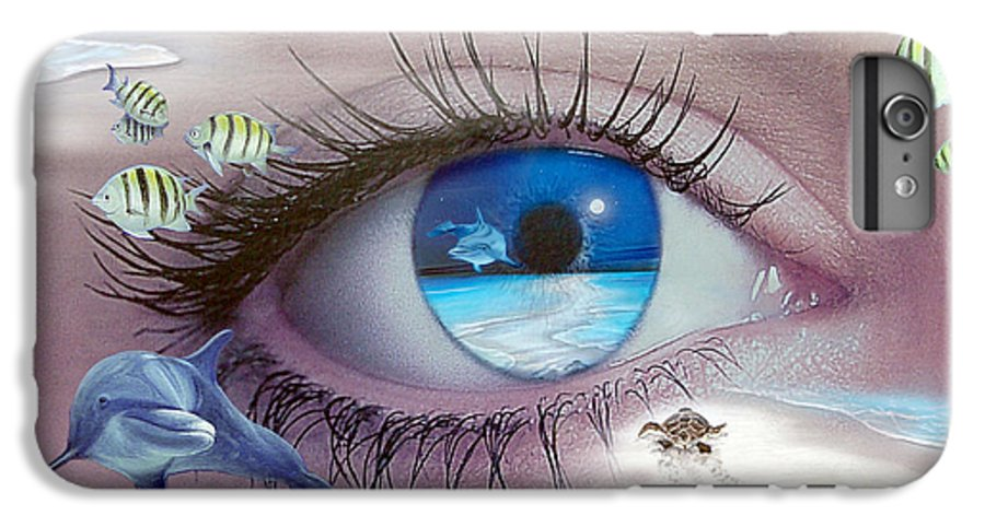 Dolphins IPhone 6s Plus Case featuring the photograph I Witness Testigo by Angel Ortiz