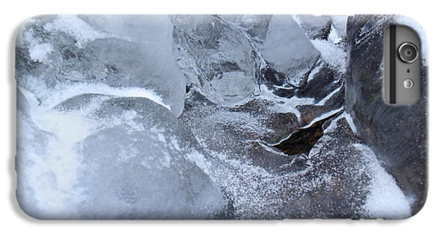 Snow IPhone 6s Plus Case featuring the photograph Icy Creek Forms In Pocono Mountains by Anna Lisa Yoder