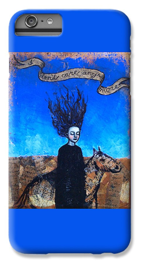IPhone 6s Plus Case featuring the painting Idontcareanymore by Pauline Lim