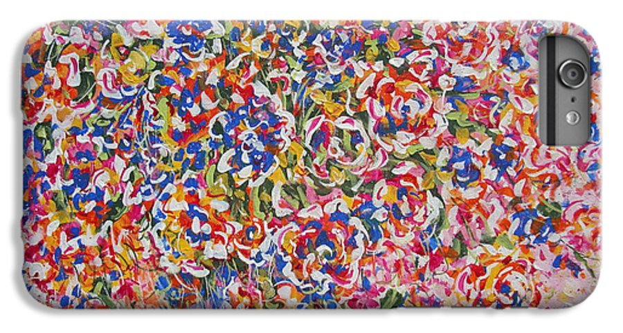 Flowers IPhone 6s Plus Case featuring the painting Illumination by Natalie Holland