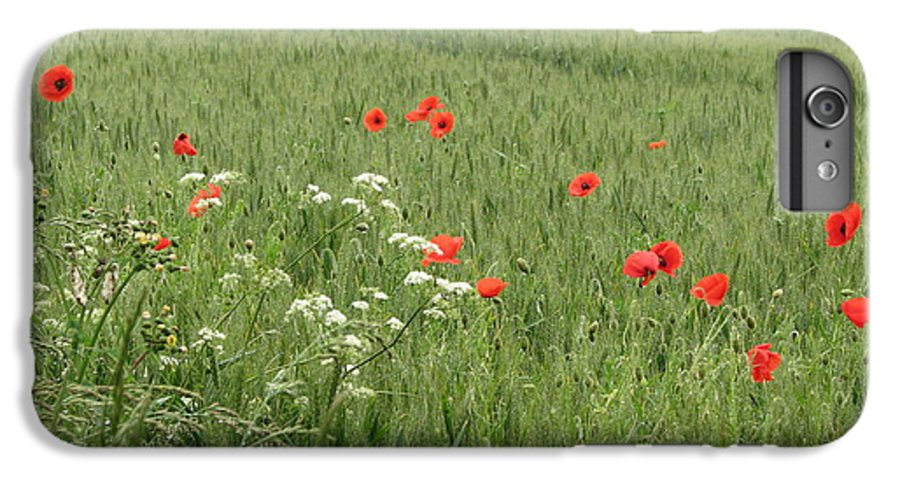Lest-we Forget IPhone 6s Plus Case featuring the photograph in Flanders Fields the poppies blow by Mary Ellen Mueller Legault