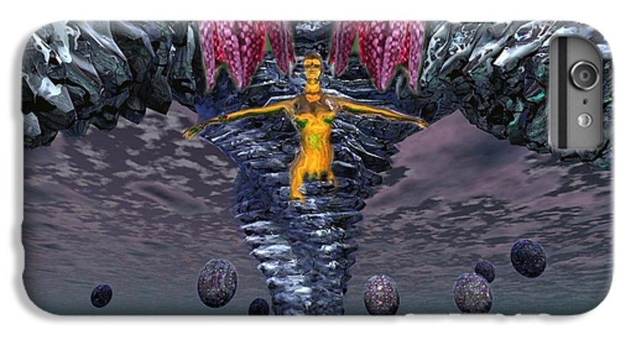 3d Computer Nude Woman Gold Fantasty IPhone 6s Plus Case featuring the digital art Incoming by Dave Martsolf