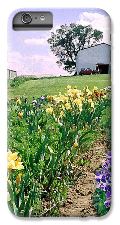 Landscape Painting IPhone 6s Plus Case featuring the photograph Iris Farm by Steve Karol