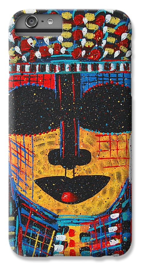Abstract IPhone 6s Plus Case featuring the painting Isatoria by Natalie Holland