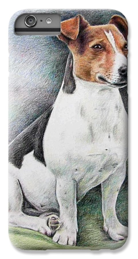 Dog IPhone 6s Plus Case featuring the drawing Jack Russell Terrier by Nicole Zeug