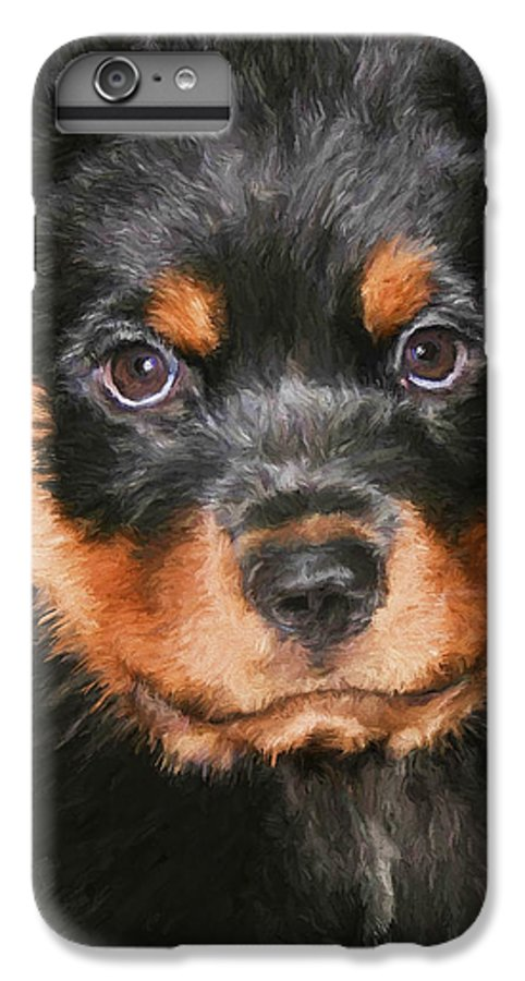 Rottweiler IPhone 6s Plus Case featuring the painting Jacob by David Wagner