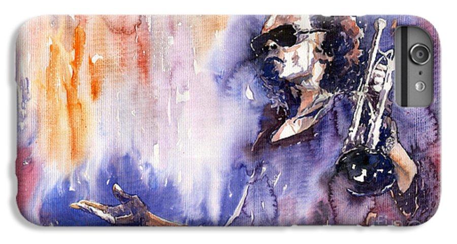 Jazz IPhone 6s Plus Case featuring the painting Jazz Miles Davis 14 by Yuriy Shevchuk