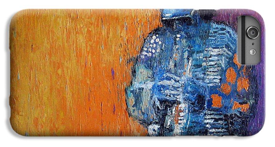 Jazz IPhone 6s Plus Case featuring the painting Jazz Miles Davis 2 by Yuriy Shevchuk