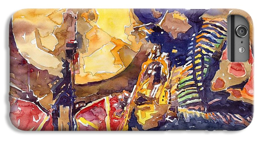 Miles Davis Figurative Jazz Miles Music Musiciant Trumpeter Watercolor Watercolour IPhone 6s Plus Case featuring the painting Jazz Miles Davis Electric 2 by Yuriy Shevchuk
