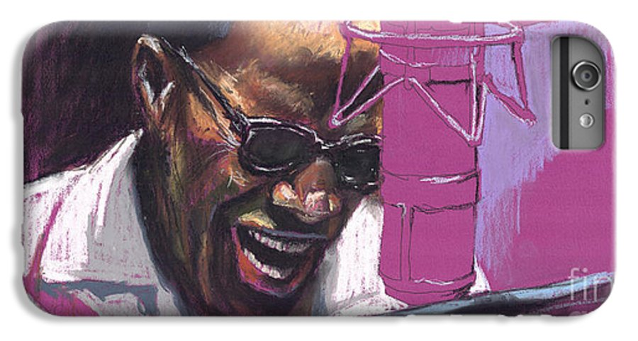 Jazz IPhone 6s Plus Case featuring the painting Jazz Ray by Yuriy Shevchuk
