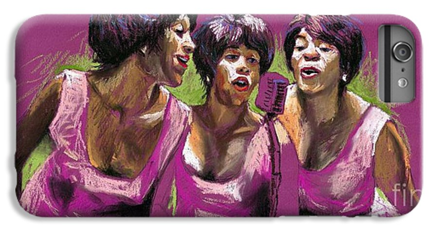 Jazz IPhone 6s Plus Case featuring the painting Jazz Trio by Yuriy Shevchuk