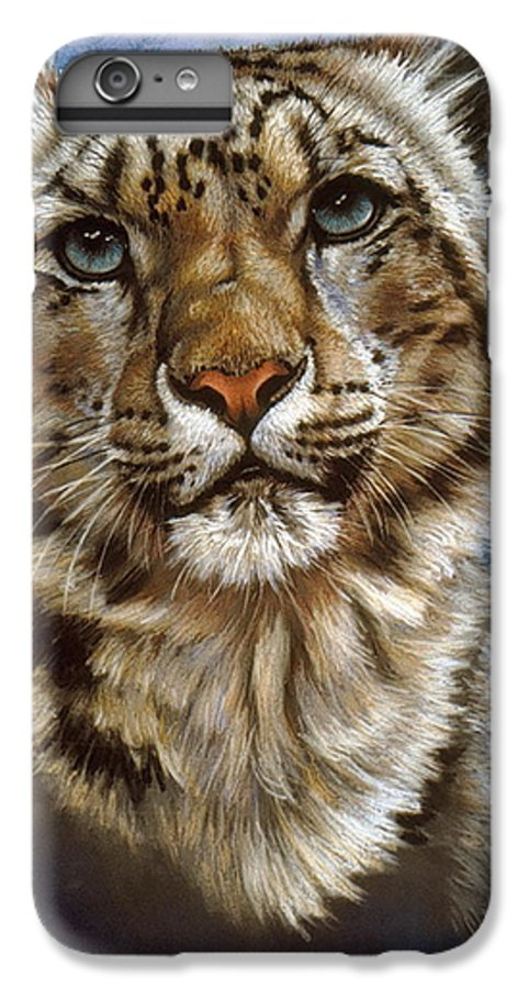 Snow Leopard IPhone 6s Plus Case featuring the pastel Jewel by Barbara Keith