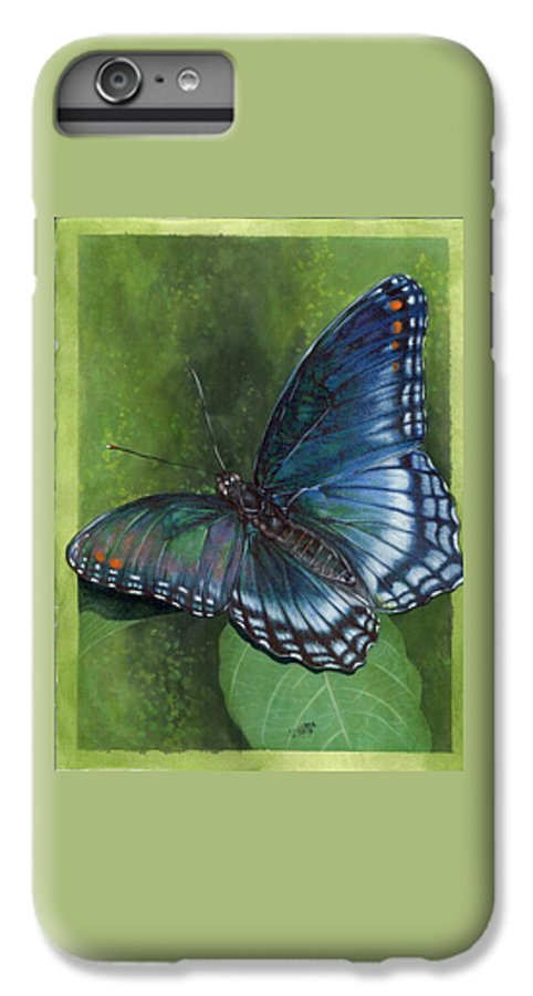 Insects IPhone 6s Plus Case featuring the mixed media Jewel Tones by Barbara Keith