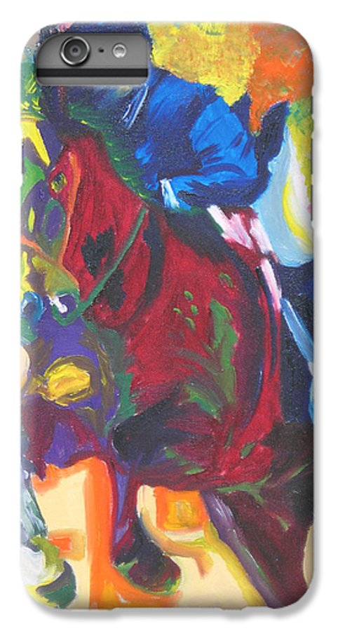 Horse Jumping IPhone 6s Plus Case featuring the painting Jump Off by Michael Lee