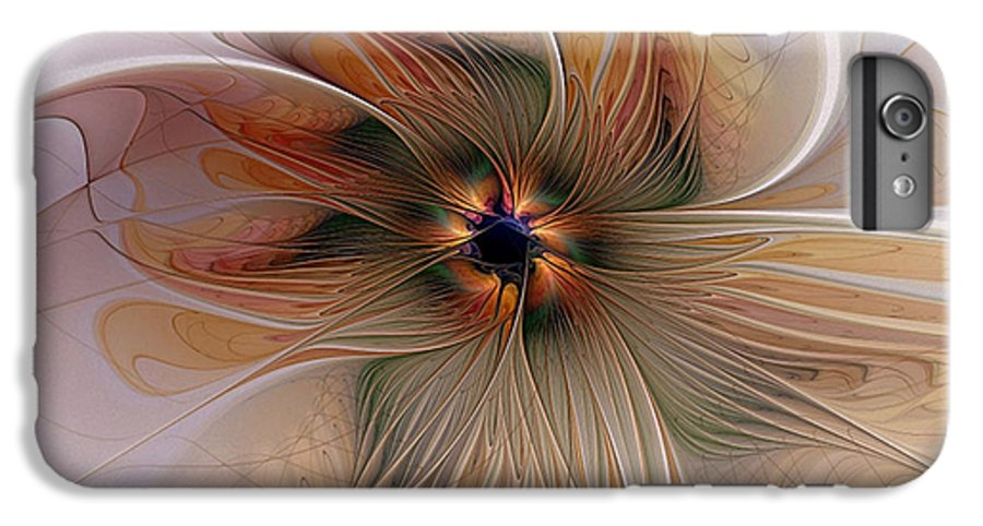 Digital Art IPhone 6s Plus Case featuring the digital art Just Peachy by Amanda Moore