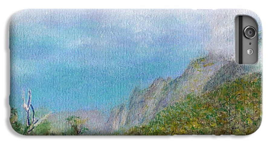 Rainbow Colors Pastel IPhone 6s Plus Case featuring the painting Kalalau Mist by Kenneth Grzesik