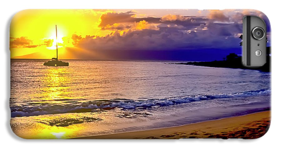 Scenics IPhone 6s Plus Case featuring the photograph Kapalua Bay Sunset by Jim Cazel