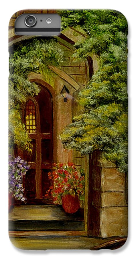Door IPhone 6s Plus Case featuring the painting Knight's Door by Quwatha Valentine