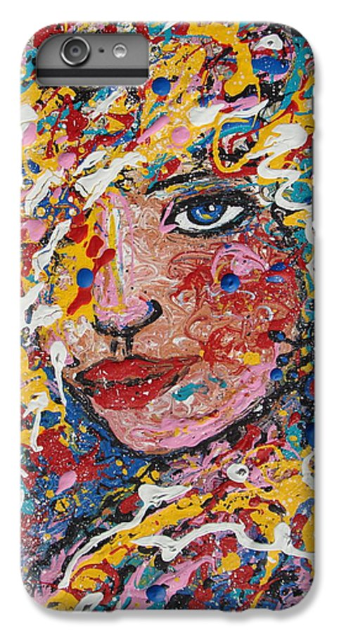 Woman IPhone 6s Plus Case featuring the painting Kuziana by Natalie Holland