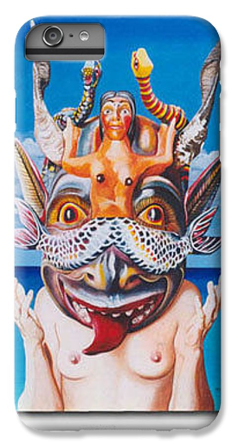 Hyperrealism IPhone 6s Plus Case featuring the painting La Sirena by Michael Earney