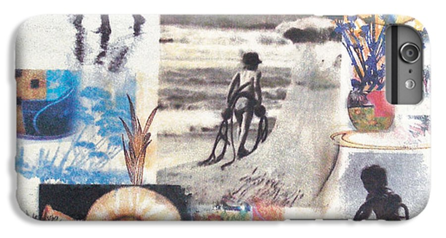 Abstract IPhone 6s Plus Case featuring the painting Lajolla by Valerie Meotti