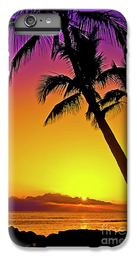 Sunset IPhone 6s Plus Case featuring the photograph Lanai Sunset II Maui Hawaii by Jim Cazel