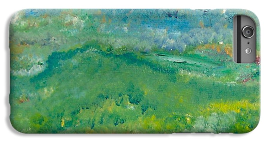 Pointillism IPhone 6s Plus Case featuring the painting Landschaft Bei Arles by Michael Puya