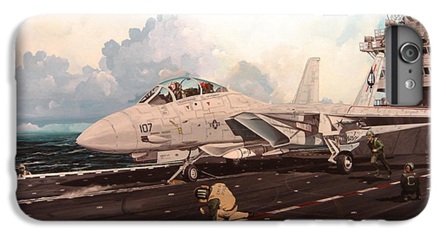 Military IPhone 6s Plus Case featuring the painting Launch The Alert 5 by Marc Stewart