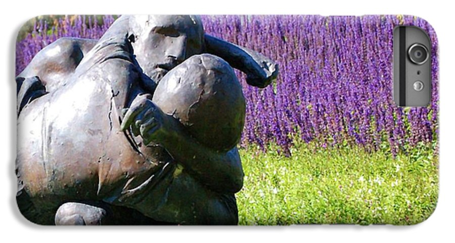 Statue IPhone 6s Plus Case featuring the photograph Lavender Lovers by Debbi Granruth