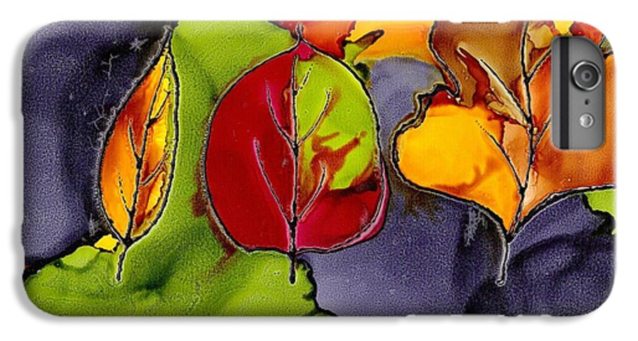 Leaf IPhone 6s Plus Case featuring the painting Leaf Brilliance by Susan Kubes