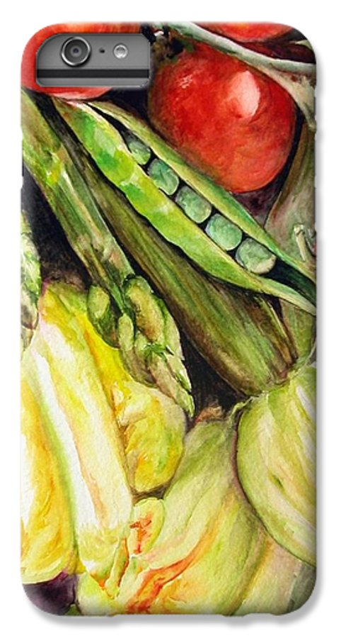 Still Life IPhone 6s Plus Case featuring the painting Legumes by Muriel Dolemieux