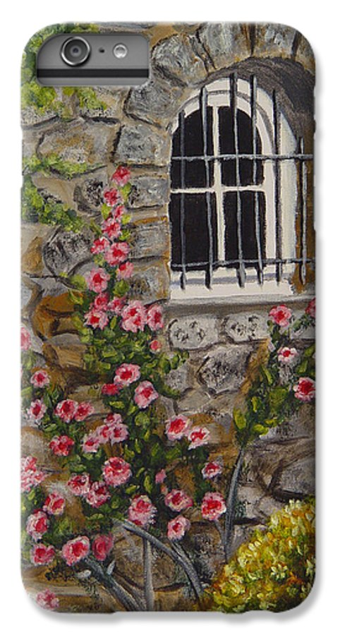 Window IPhone 6s Plus Case featuring the painting Les Arcs Sur Argens by Quwatha Valentine