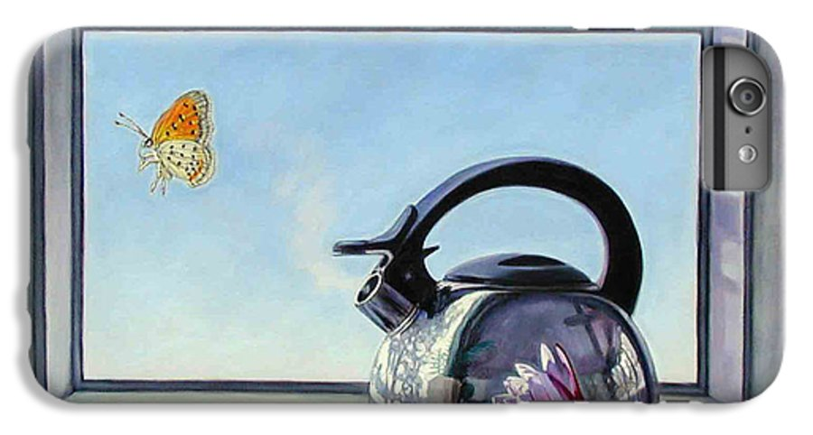 Steam Coming Out Of A Kettle IPhone 6s Plus Case featuring the painting Life Is A Vapor by John Lautermilch