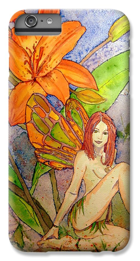 Faerie IPhone 6s Plus Case featuring the painting Lillian Keeper Of Both Wealth And Pride - Watercolor by Donna Hanna