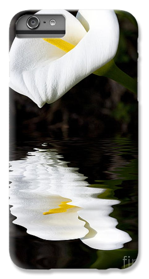 Lily Reflection Flora Flower IPhone 6s Plus Case featuring the photograph Lily Reflection by Avalon Fine Art Photography