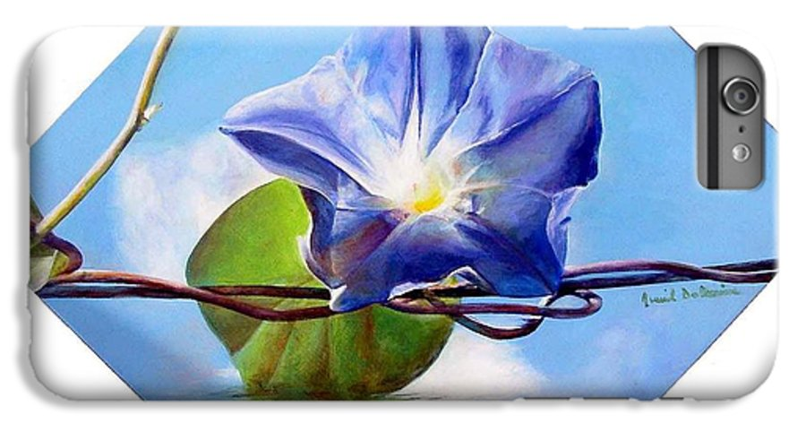 Floral Painting IPhone 6s Plus Case featuring the painting Liseron by Muriel Dolemieux